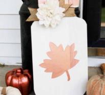 Schöne Holzschilder heißen den Herbst willkommen!