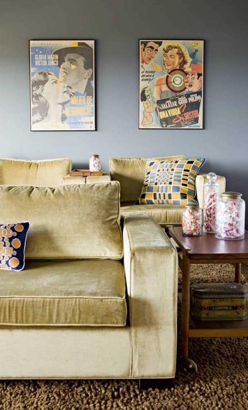 Inneneinrichtung - braune Möbel Sofa Retro