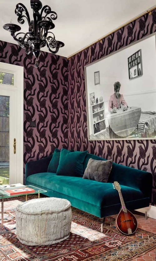 Inneneinrichtung - grüne Möbel in der Ecke