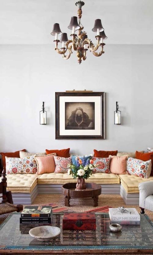 Inneneinrichtung - längliches sofa - tolle idee
