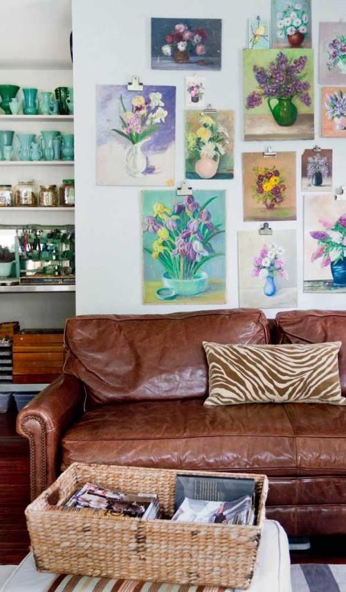 Inneneinrichtung leder braun wohnideen sofa retro