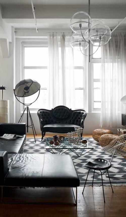 Inneneinrichtung ledermöbel sofa ideen