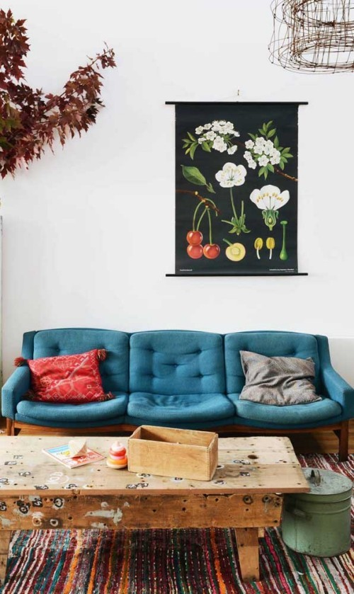 Inneneinrichtung mit einem Holztisch Sofas Ideen