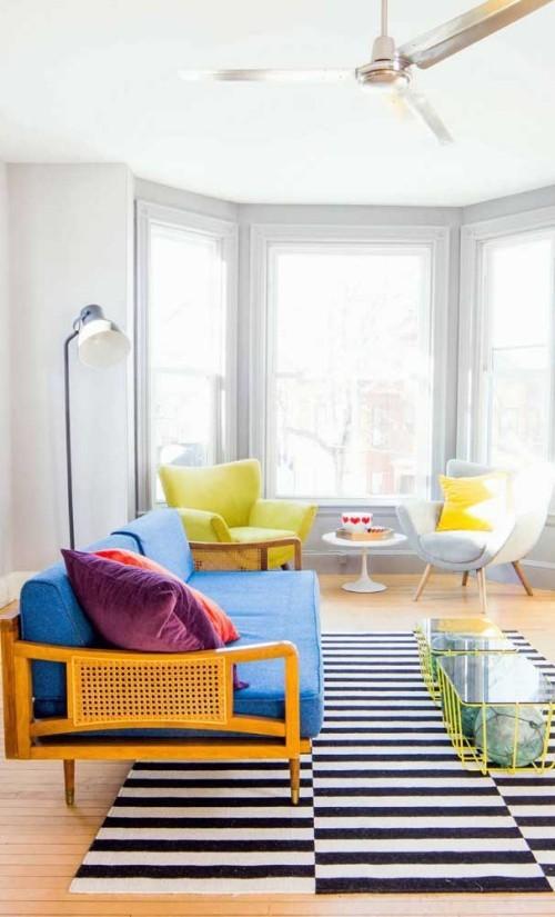 Inneneinrichtung mit grellen farben - tolle wohnideen