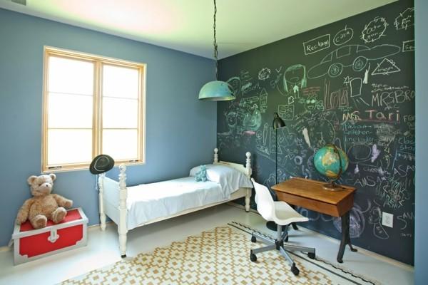 Kinderzimmer Etagenbett Tafelfarbe Kinderzeichnungen Tafelfolie