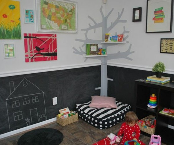Kinderzimmer Etagenbett Tafelfarbe Tafelfolie
