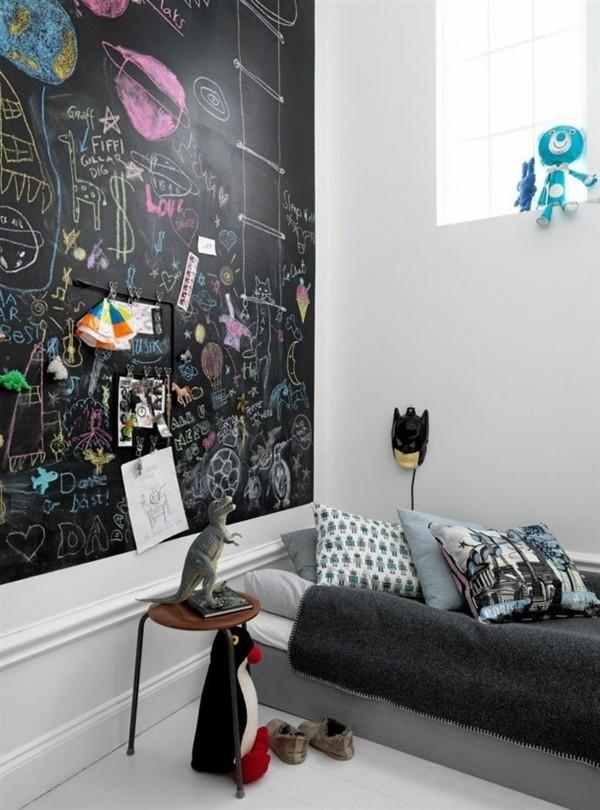 Kinderzimmer Ideen Tafelfarbe kreative Wandgestaltung Magnetfolie Tafelfolie