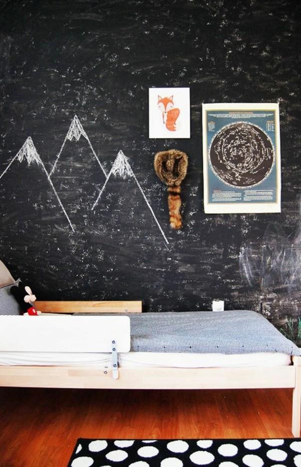 Kinderzimmer Ideen Tafelfarbe magnetisch kreative Wandgestaltung