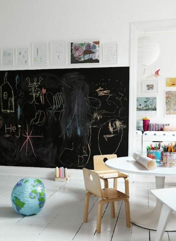 Kinderzimmer Lernbereich Tafelfarbe Kreidetafel