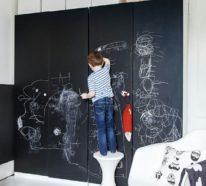 Tafelfarbe kreativ einsetzen: über 100 Beispiele für Tafelwand im Kinderzimmer