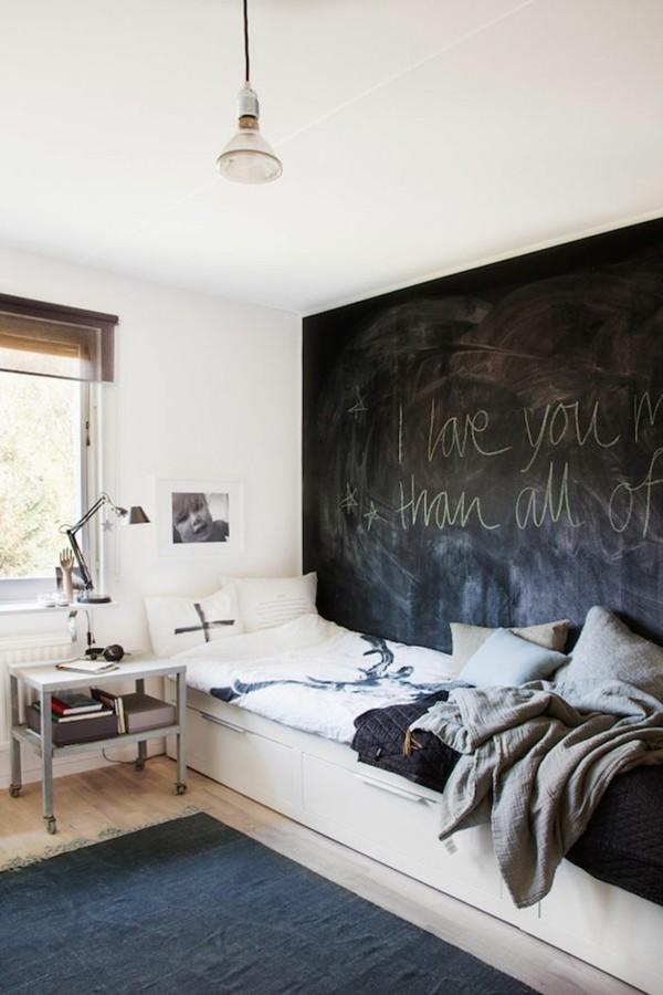 Kinderzimmer Möbel Tafelfarbe magnetisch Wandgestaltung Tafelfolie