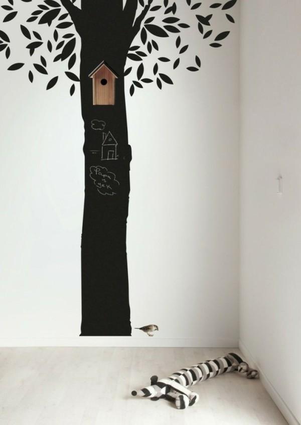 Kinderzimmer Tafelfarbe kreative Wandgestaltung Baum