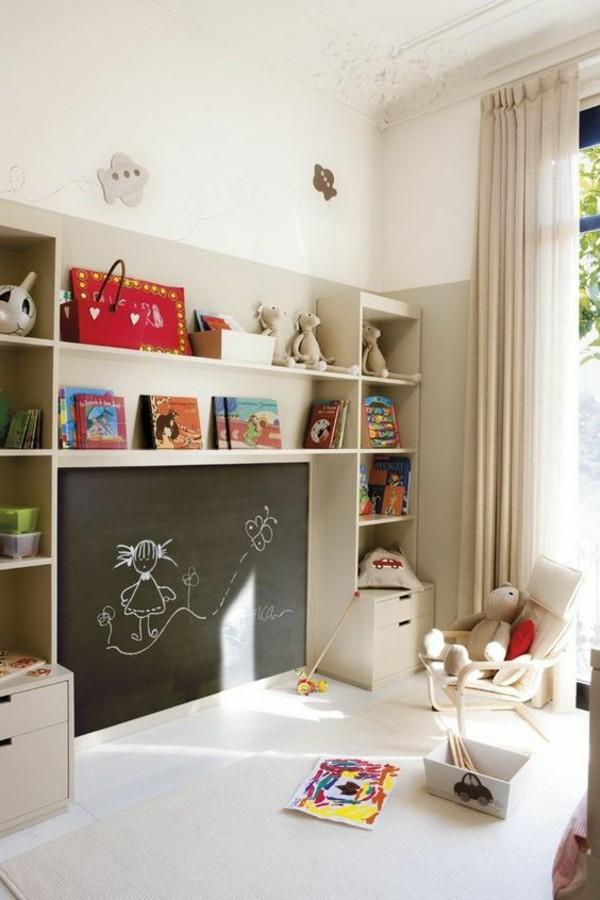 Kinderzimmer Wanddekoration Wände streichen Tafelfarbe