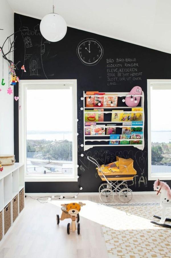 Kinderzimmer Wandgestaltung Tafelfarbe magnetisch