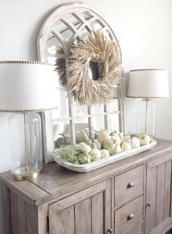 Konsolentisch herbstlich dekorieren Möbel