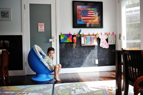 Kreidetafel Kinderzimmer Tafelfarbe kreative Wandgestaltung