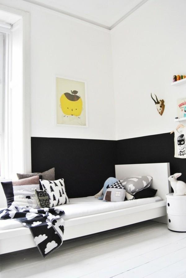 Kreidetafel Kinderzimmer Tafelfarbe simple Wandgestaltung