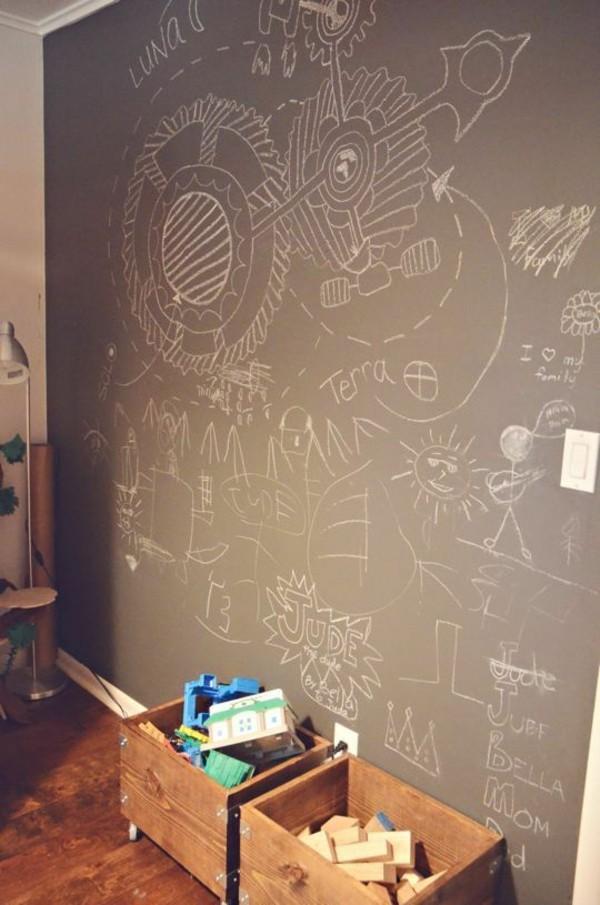 Kreidetafel Kinderzimmer Wand Tafelfarbe kreative Wandgestaltung