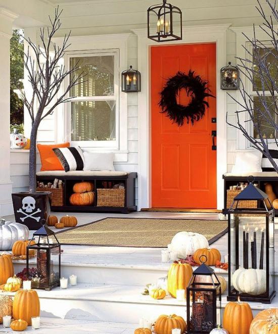 Laternen tolle Herbstdeko mit Laternen Halloween Deko