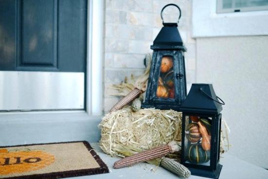 Laternen tolle Herbstdeko mit Laternen Vintage Look