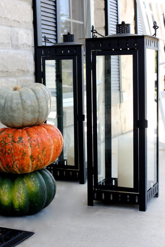 Laternen tolle Herbstdeko mit Laternen minimalistisches Arrangement