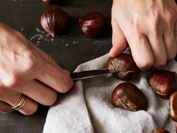Maronen Zubereitung Maronen gesund Esskastanien kochen