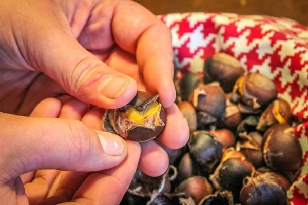 Maronen Zubereitung Maronen gesund Maronen schälen