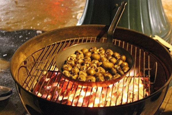 Maronen Zubereitung Maronen gesund Pfane Esskastanien rösten