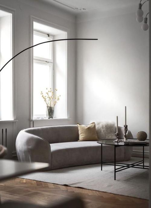 Minimalismus im Wohnzimmer pure Eleganz