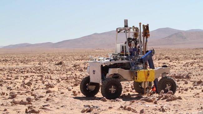 NASA entwickelt autonome Bohrer, um nach Leben unter der Marsoberfläche zu suchen rover in die wüste chile