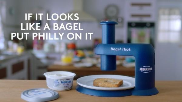 Philadelphia's Gadget Bagel That verwandelt alles in einen Bagel bagel maschine frischkäse lustig