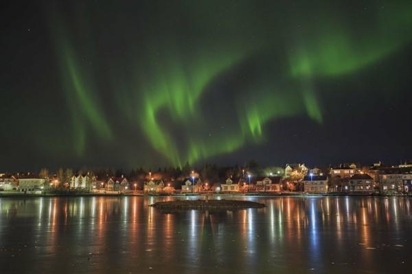 Reykjavik nordlichter sehen in island