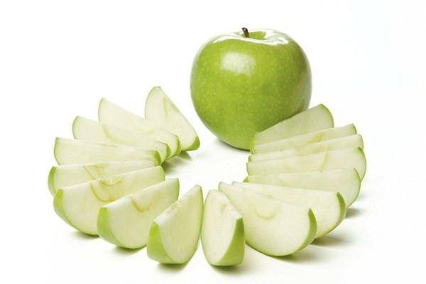 Rezept Apfel Crumble Apfelstreusel grüner Apfel geschnitten