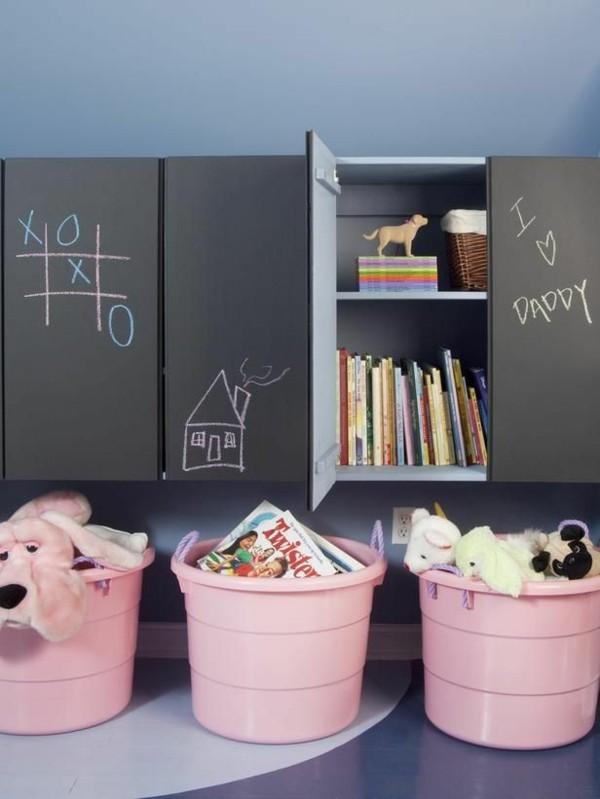 Tafelfarbe Kinderzimmer Schränke Tafelfolie
