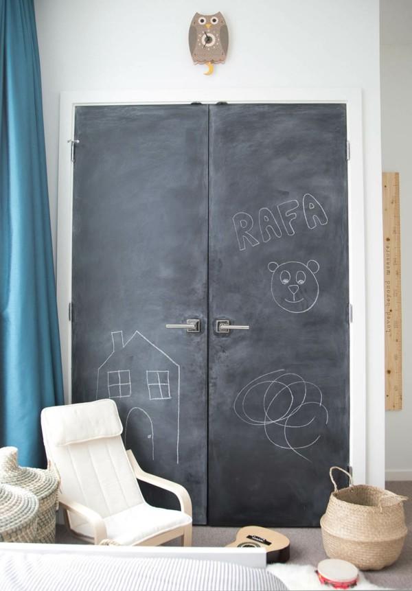 Tafelfarbe Tür schwarz Kreide