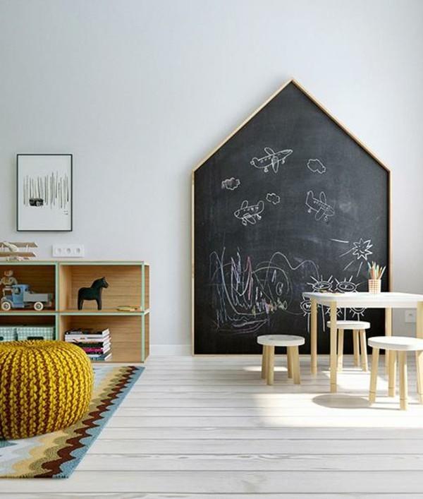 Tafelfarbe Wand Kinderzimmer Möbel Haus Kreidetafel