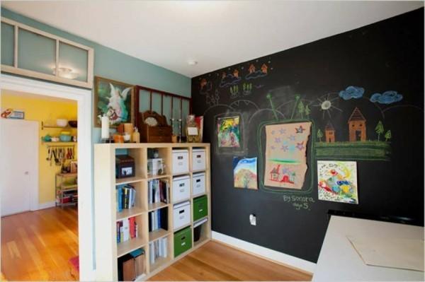 Tafelfarbe Wanddeko Kreidetafel Akzetwand Kinderzimmer gestalten