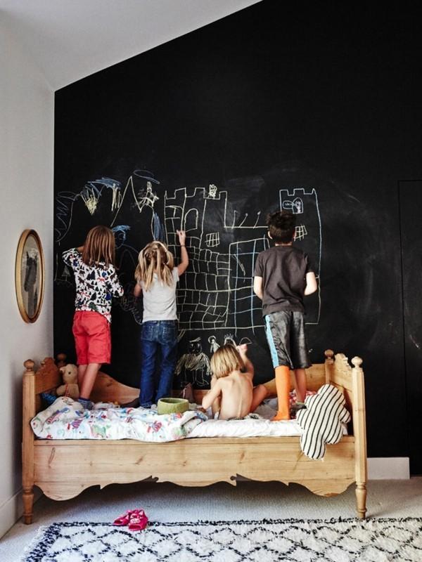 Tafelfarbe schwarz Kinderzimmer Wanddeko Kreidetafel
