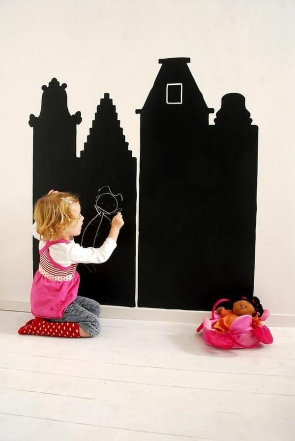 Tafelfolie Kinderzimmer Tafelfarbe kreative Wandgestaltung