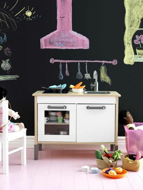Wände streichen Tafelfarbe Kinderzimmer Wandgestaltung