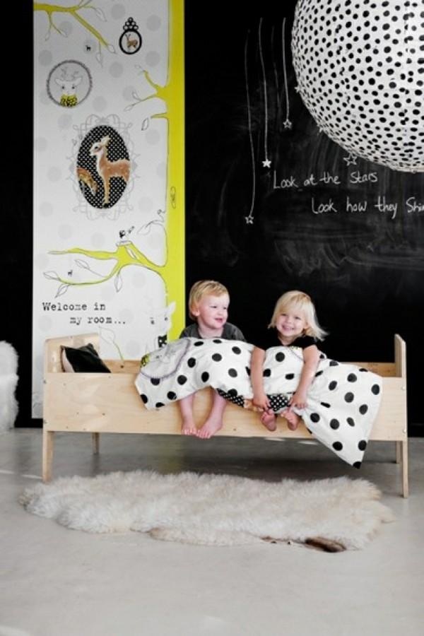 Wände streichen Tafelfarbe Kinderzimmer gestalten