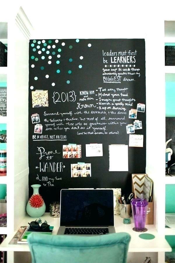 Wände streichen Tafelfarbe Wand Kinderzimmer Kreide Notizen