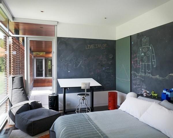 Wanddekoration kreative Wand Kreidetafel Schlafzimmer Tafelfarbe