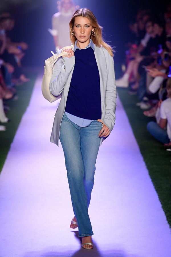 blau und grau auf der new york fashion weekdamentrends
