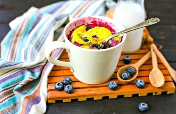 blaubeeren low carb tassenkuchen ohne ei