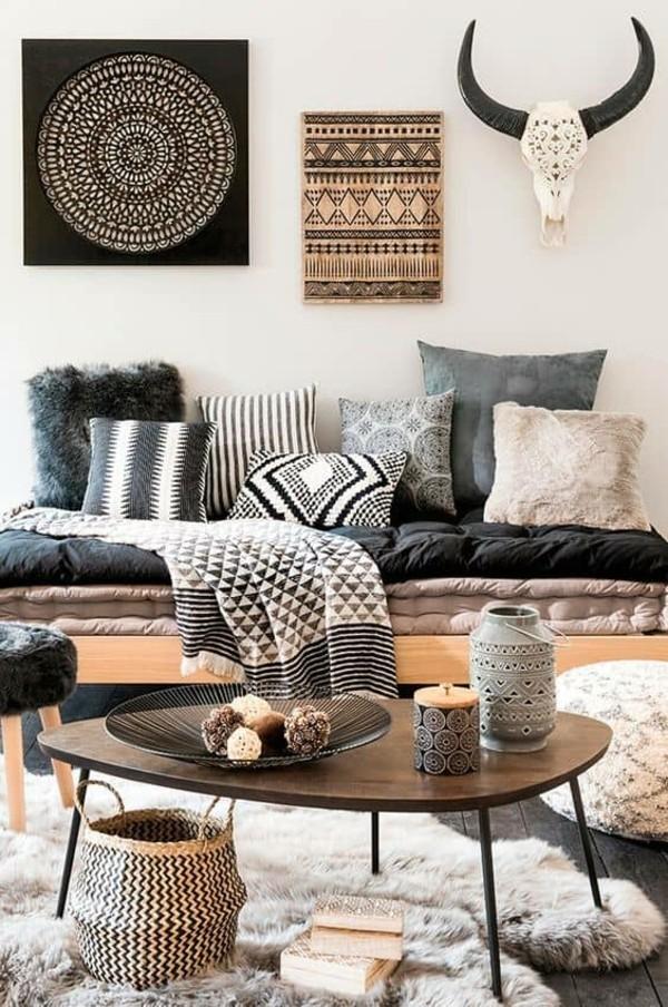 boho style wohnzimmer dekorieren