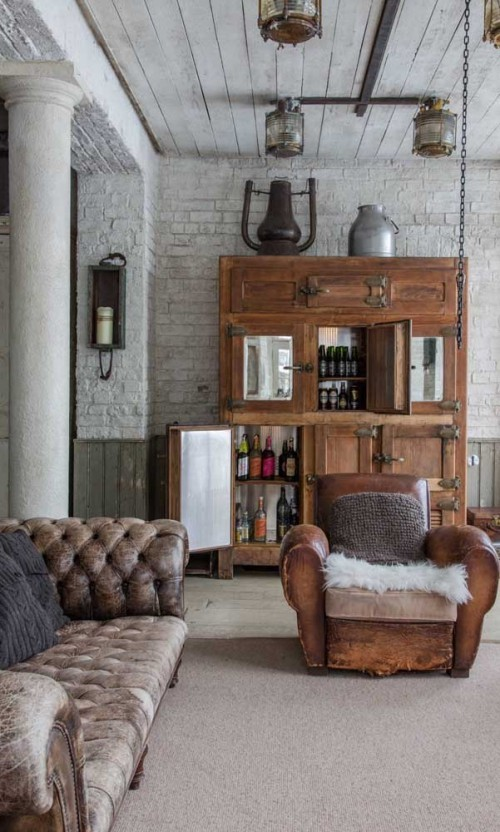 braunes sofa retro idee Inneneinrichtung