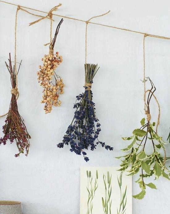 brautstrauß trocknen kräuter und gräser