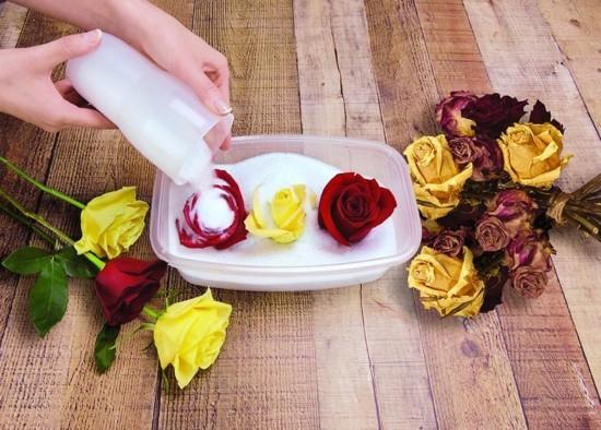 brautstrauß trocknen oder konservieren mit silica gel