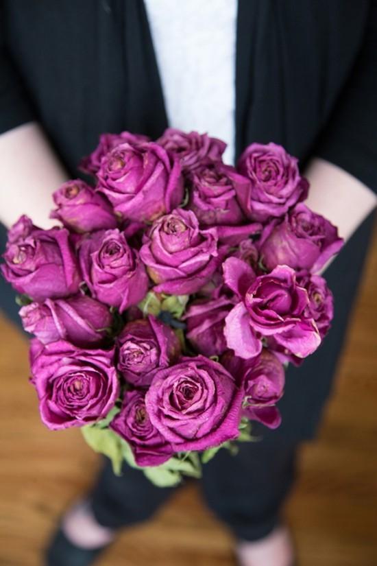 brautstrauß trocknen rosen konservieren
